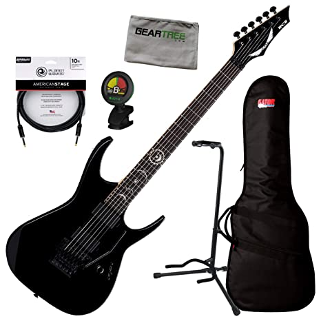 Dean RC6 CBK Rusty Cooley Classic Black - Guitarra eléctrica con bolsa, soporte, tela