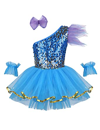 YiZYiF Vestido de Danza Ballet Lentejuelas para Niñas Traje ...