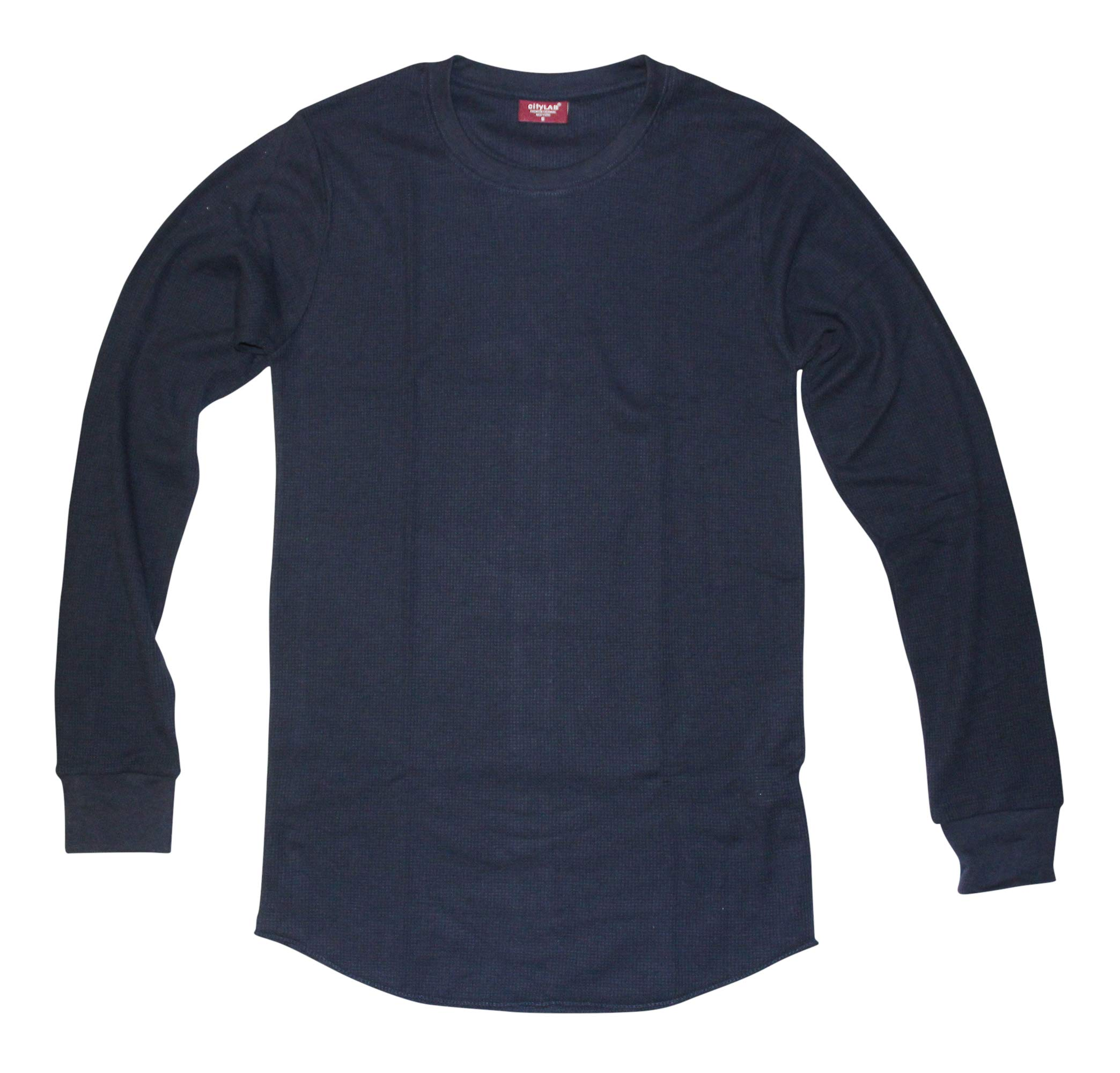 CITYLAB City Lab Fitted Thermal Crewneck Shirt, Navy, XXX-Large by CITYLAB