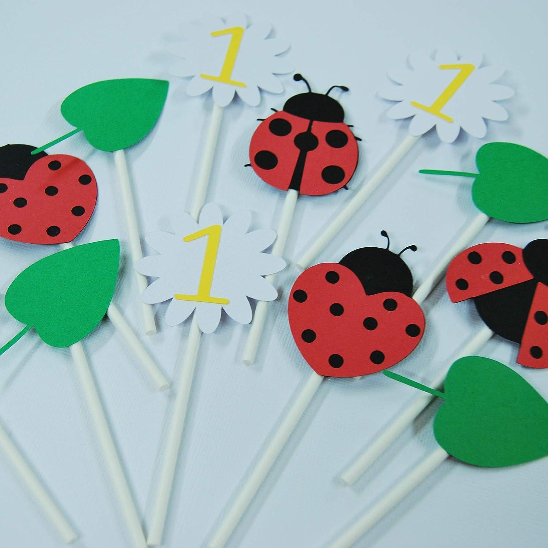 Ladybug Cupcake Toppers