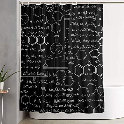 Amazon BATM Creative Abstract Science Chemistry Shower Curtains