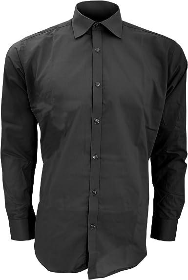 Kustom Kit Mens Business Short Sleeved Slim Fit Workwear Office Work Shirt
