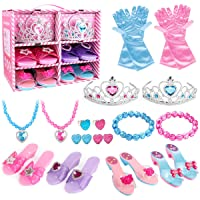 Meland Princess Dress Up Shoes and Jewelry Boutique - 4 Pairs of Play Shoes and...
