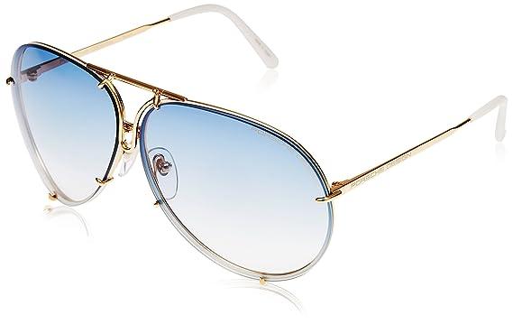 aviator lenses  Amazon.com: Porsche Design P8478 W Gold Aviator Sunglasses 60mm ...