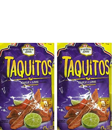 Pueblo Lindo TAQUITOS Rolled Corn Chips chile & lime 9.9 oz 2 BAGS