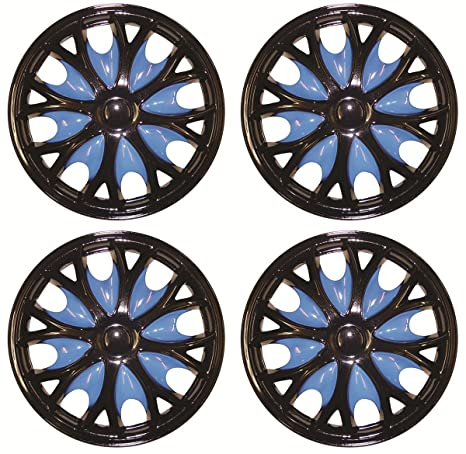 """4 x 14 """"negro/azul Tapacubos (para Vauxhall Astra Corsa Agila Meriva"""