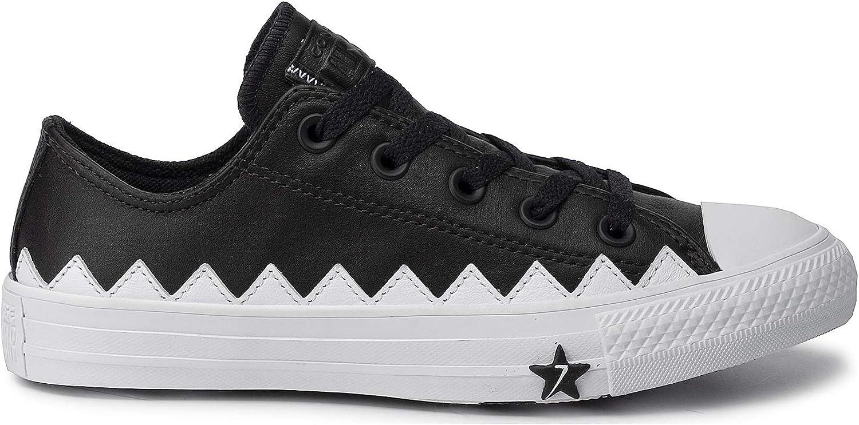 Converse Chuck Taylor All Star Ox 565369, Sneakers Basses Femme Noir Black 565369c