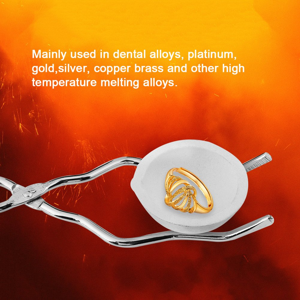 Bowl Ingot Mold Torch Melting Kit Mould Ingot Mold Set Including High Purity Graphite Crucible Combo for Gold Silver Platinum Metal 4pcs Graphite Crucible Set Tong