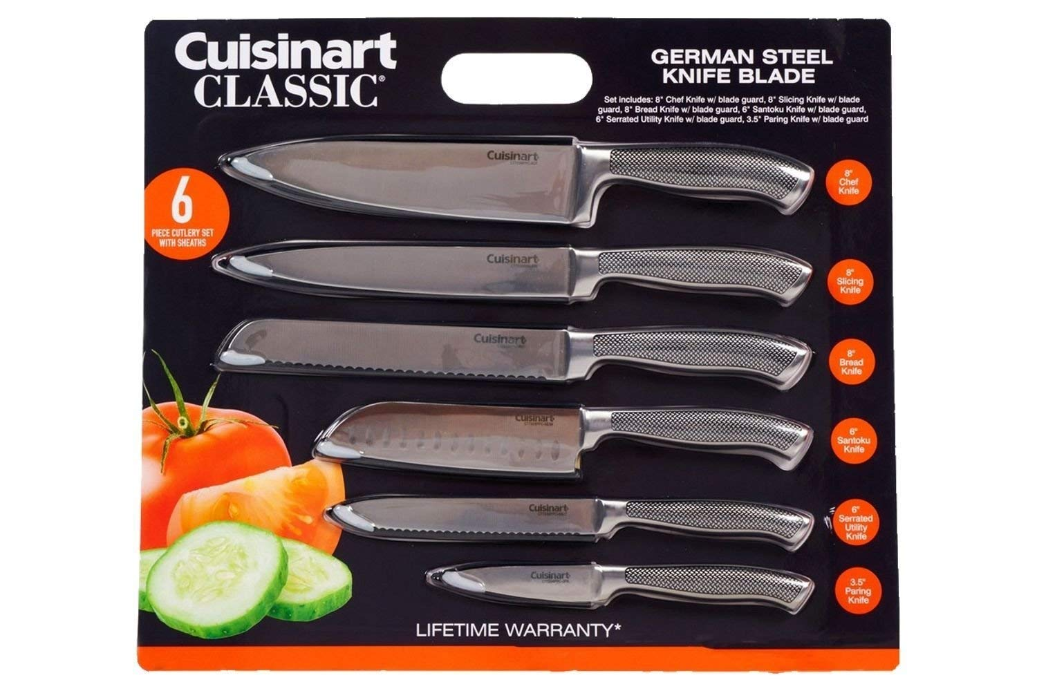 Cuisinart Classic Impressions German Steel 6-Piece Knife Set