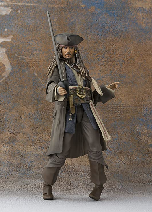 S.H Figuarts Pirati dei Caraibi Capitano Jack Sparrow PVC Action Figure Giocattolo Nuovo