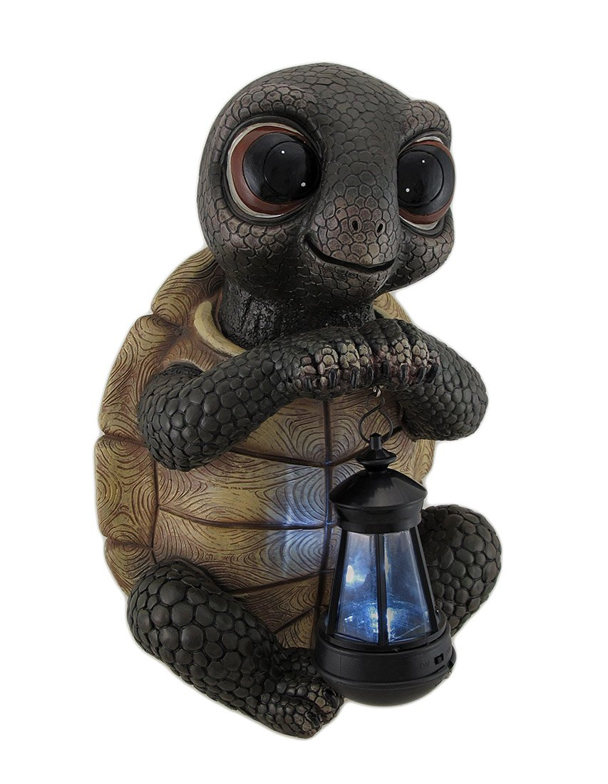 Exceptionnel Amazon.com : Zeckos Resin Outdoor Figurine Lights Twilight Turtle Garden  Statue And Solar Led Lantern 10 X 14 X 9 Inches Multicolored : Garden U0026  Outdoor