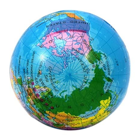 Buy generic 75cm rubber massage ball world map foam earth globe generic 75cm rubber massage ball world map foam earth globe hand wrist exercise stress relief gumiabroncs Gallery
