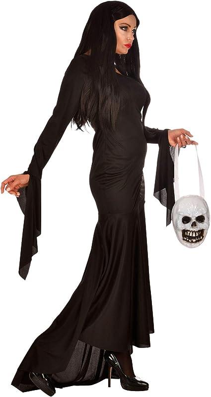 WIDMANN 01872 - Disfraz de morticia para mujer, negro, M , color ...