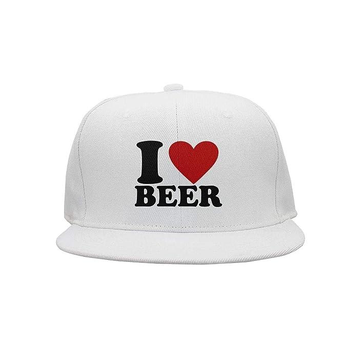 667ccefd6 Megashirtz - I Heart Beer - Vintage Style Trucker Hat Retro Mesh Cap