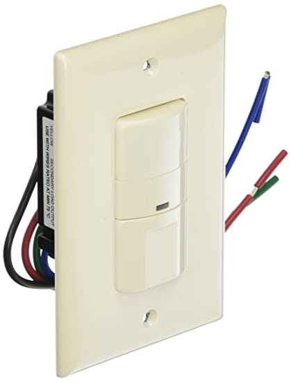 Eaton OS306U-LA 600W Wall Mount Occupancy Vacancy Sensor, Light Almond