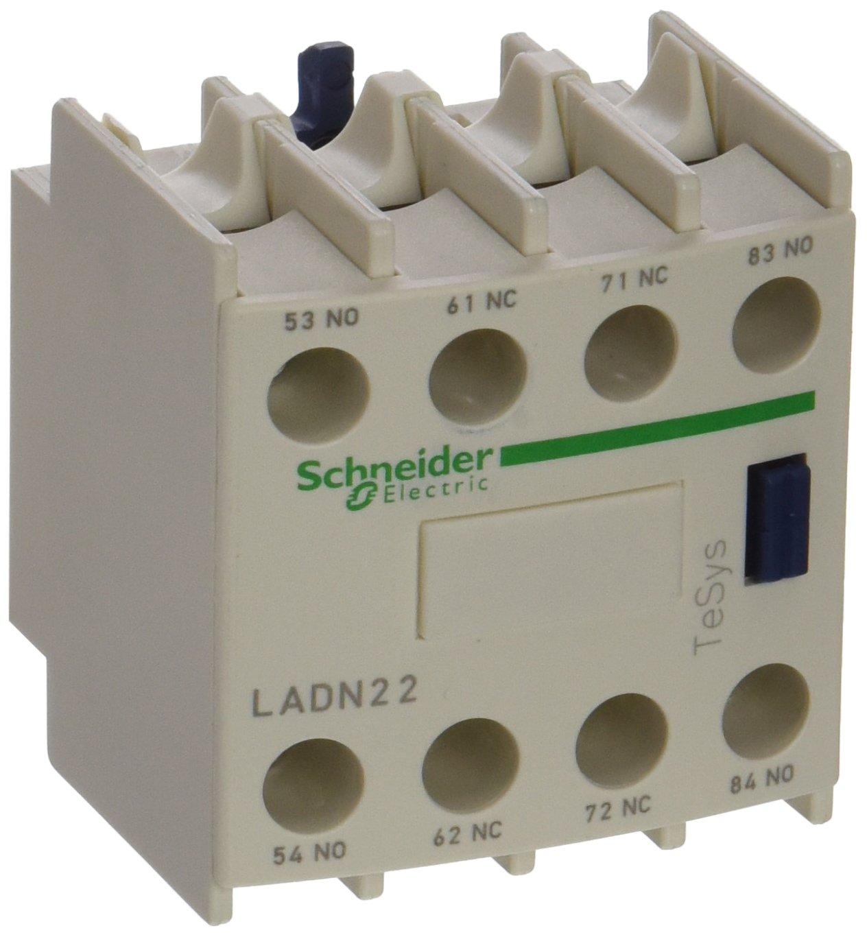 Schneider Electric LADN22 TeSys D, Bloque de contactos aux, 2 NO + 2 NC, conexió n por tornillo conexión por tornillo
