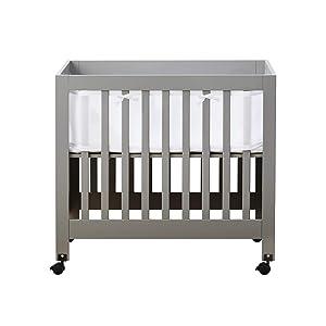 BreathableBaby Classic Breathable Mesh Mini Crib Liner - White