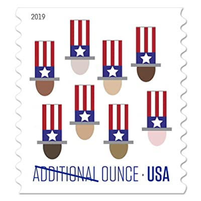2020 Uncle Sam's Hat Forever Additional Ounce Postage Stamps (Strip of 10): Office Products