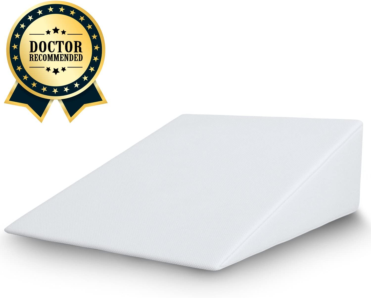 FitPlus Bed Wedge, Premium Wedge Pillow 2 Inches Memory Foam 2 Year Warranty, Acid Reflux Pillow with Removable Cover Dr Recommended for Snoring and Gerds: Home & Kitchen