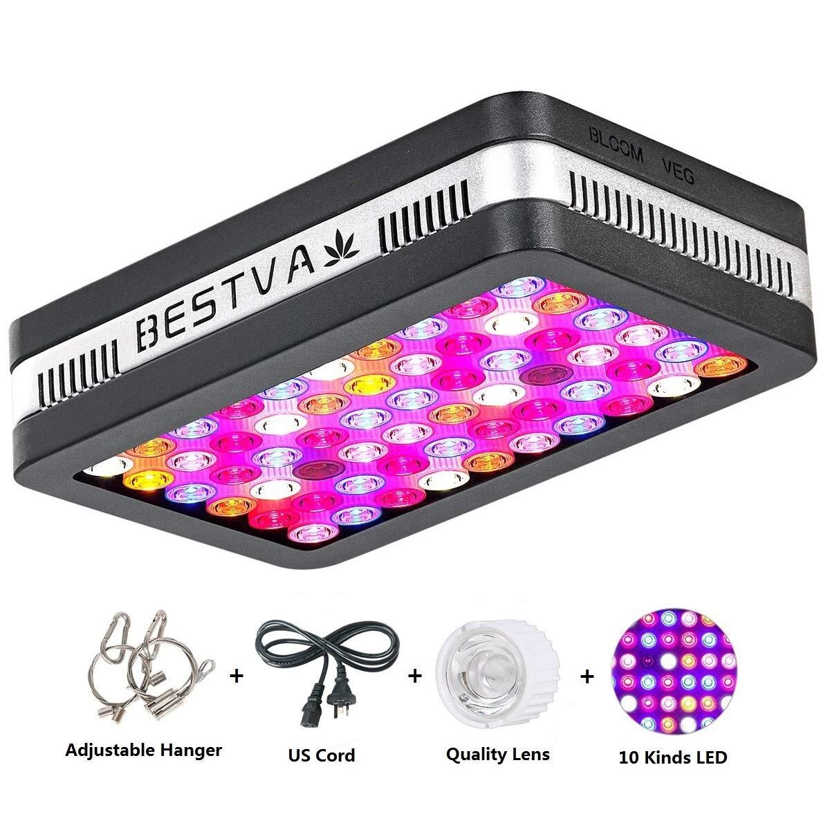 BESTVA Reflector Series 600W LED Grow Light Full Spectrum Grow Lamp for Hydroponic Indoor Plants Veg and Flower (Elite-600W) by BESTVA