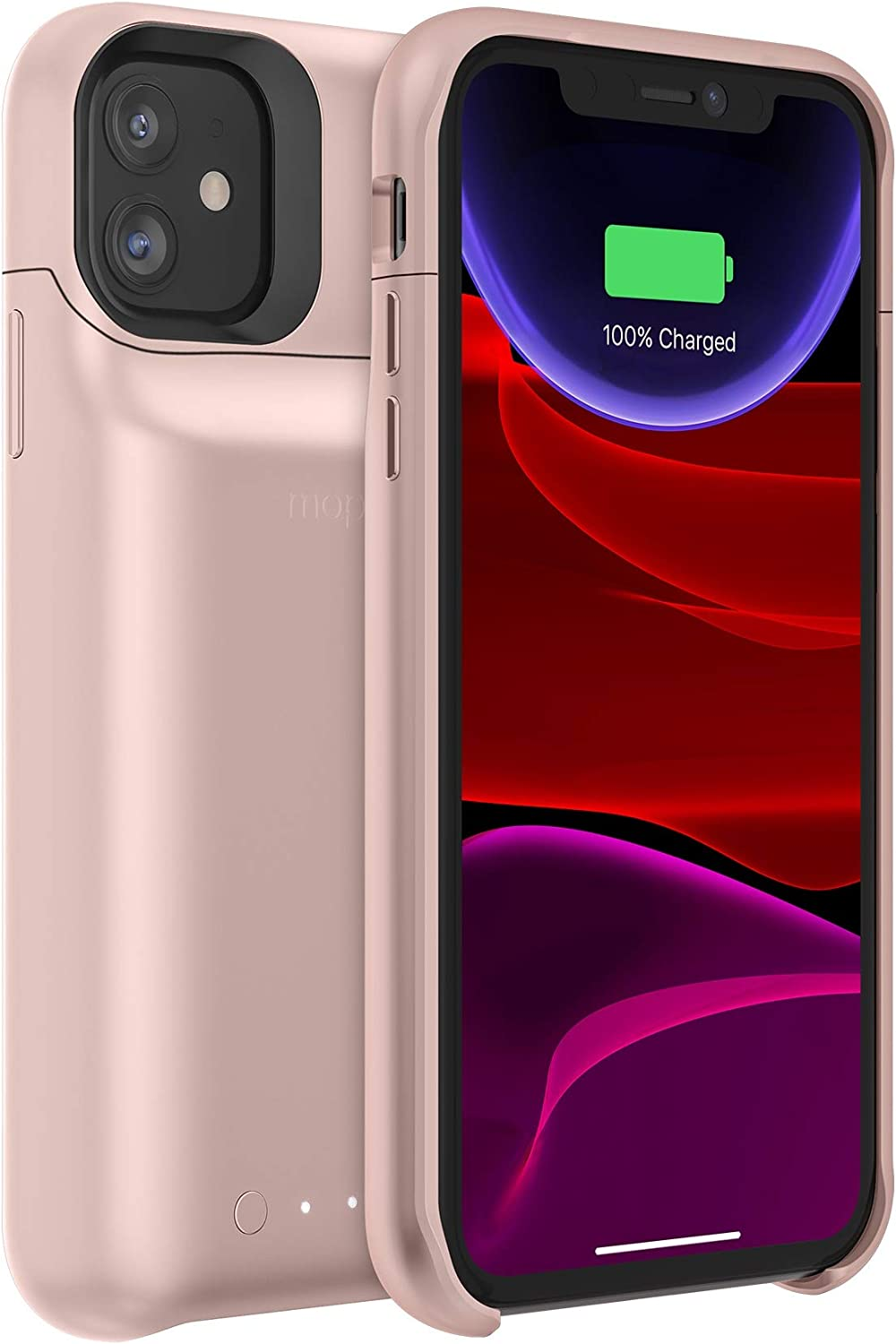 mophie 401004518 Juice Pack Access - Ultra-Slim Wireless Charging Battery Case - Made For Apple Iphone 11 - Blush Pink