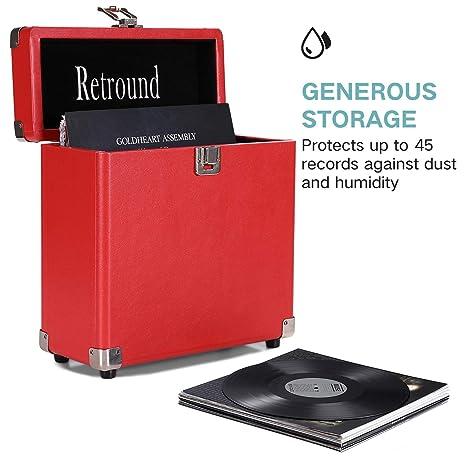 Amazon Com Victrola Vintage Retro Vinyl Leather Record Storage