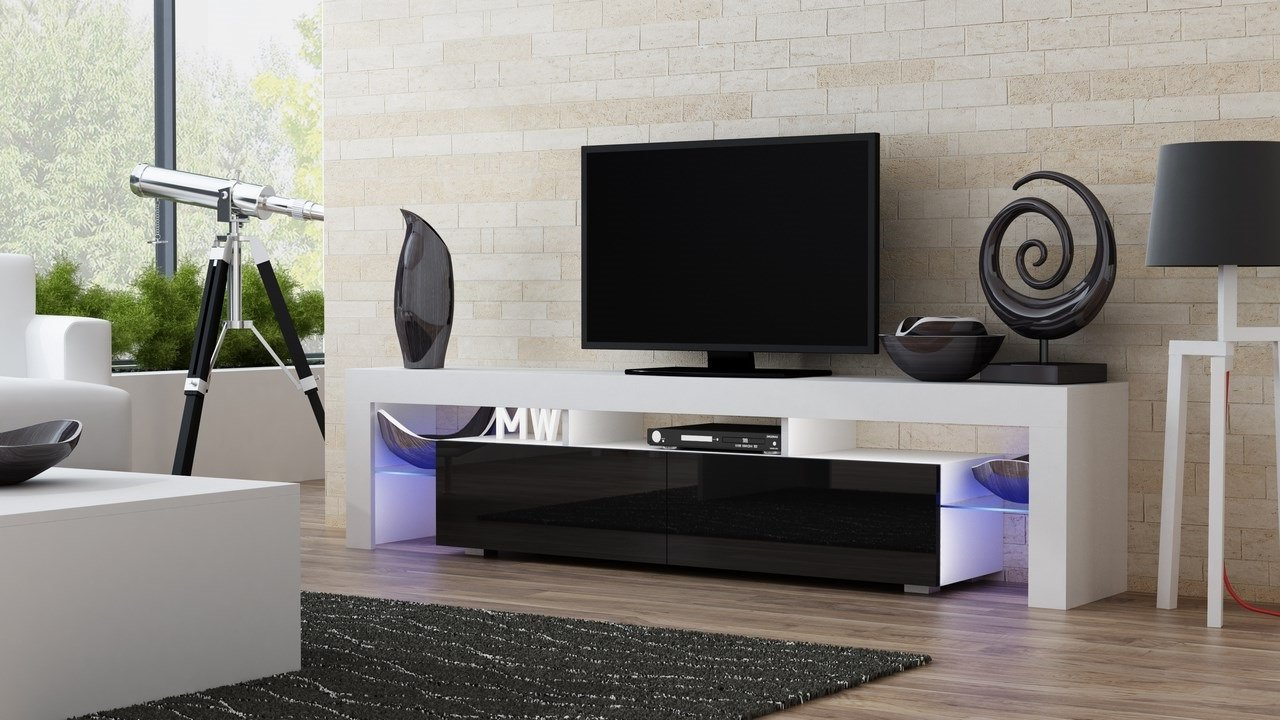 Amazon TV Stand MILANO 200 Modern LED Cabinet Living Room Furniture Tv Fit For Up To 90 Inch Screens High Capacity Console