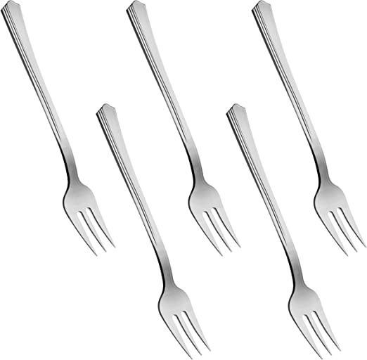 6 Cocktail Miniture Fork Silver Disposable 20 pack