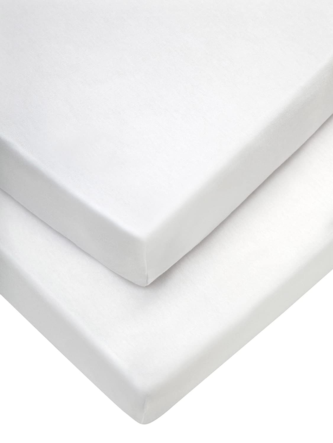 Mamas & Papas Pram Fitted Sheets (35 x 78 cm, White, Pack of 2), Pushchair Accessory 776502702