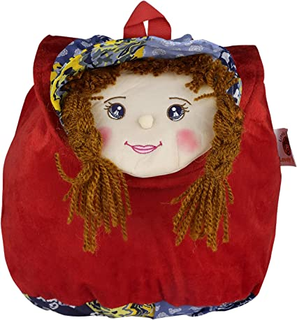 Sweety Girl Face Cartoon School Bag for Kids/Girls/Baby (Red) by Lovely Toys