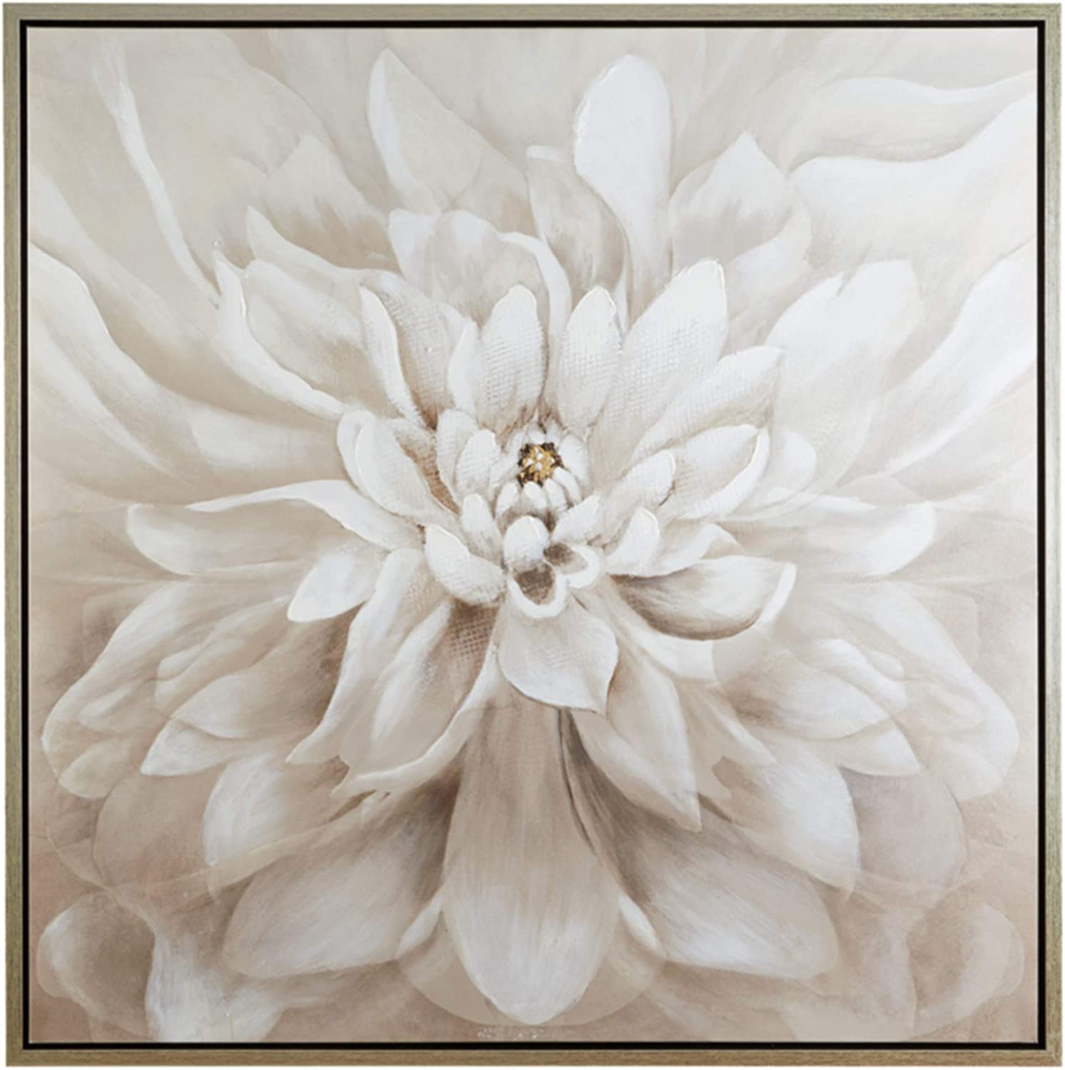 Ashley Furniture Signature Design - Jalisa Floral Wall Art - Contemporary - Taupe