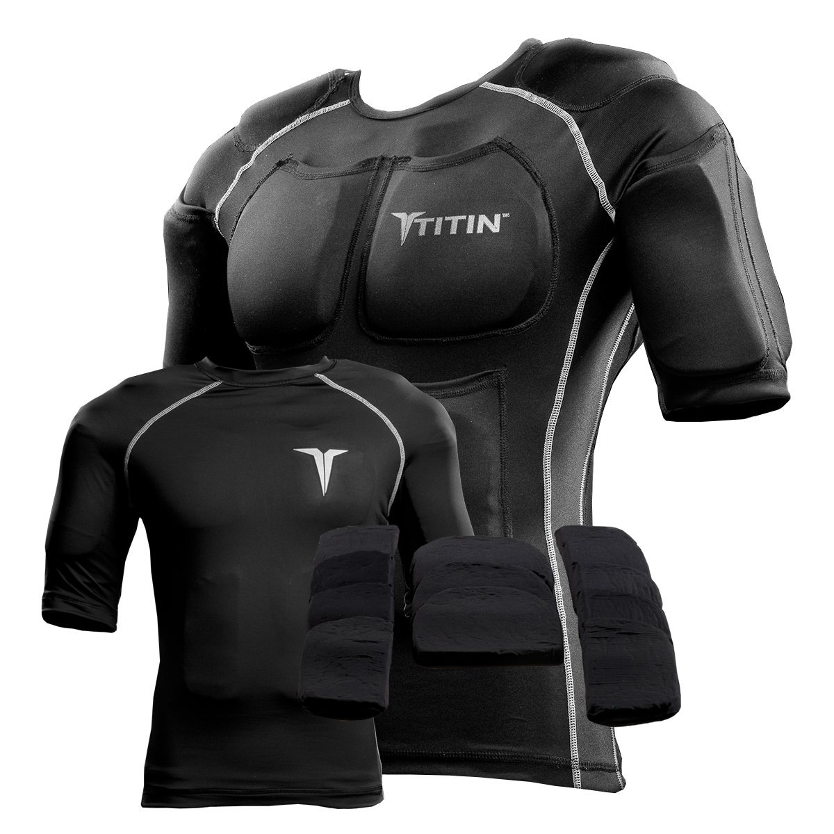 The TITIN Force Weighted Shirt System Black) 601
