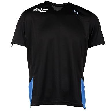 2b52de64ebf9 Puma PE Great Run Mens Running Fitness Training Shirt Tee Black ...