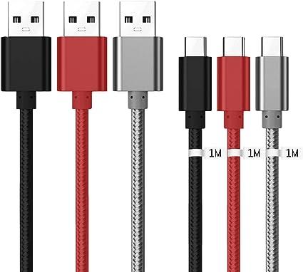 Kit Me Out® [1M 3 Pack [3.1A Cargador Rápida] Cable De Carga ...