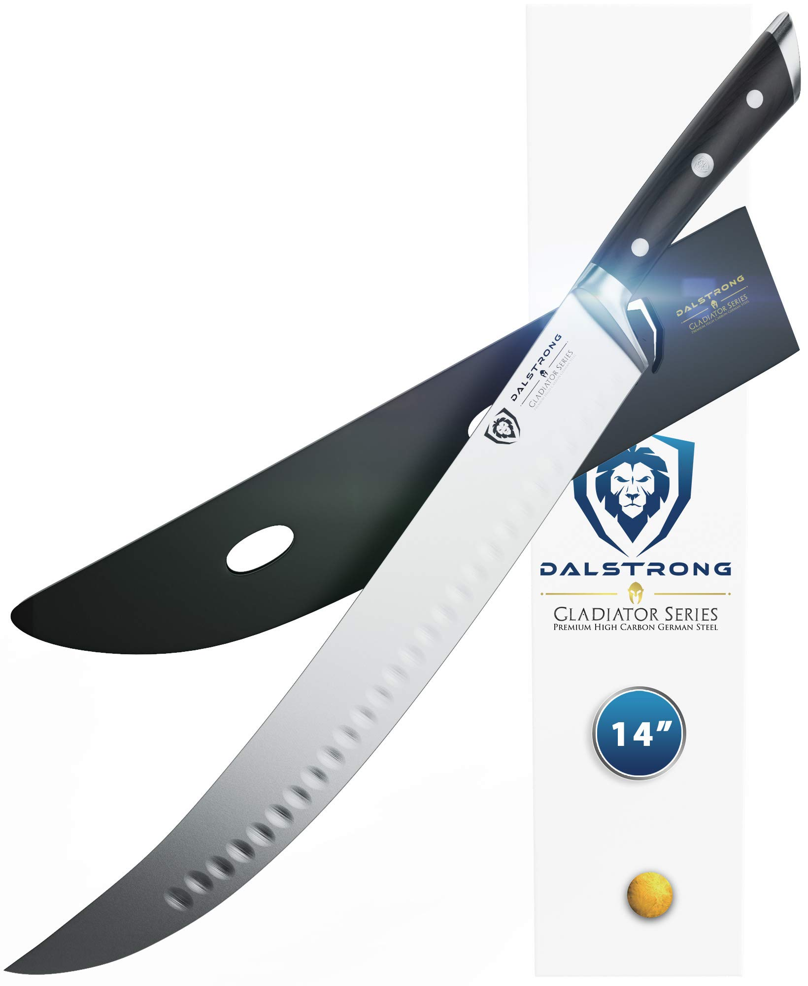 DALSTRONG Butcher's Breaking Cimitar Knife -''The Reaper'' - 14'' - Extra - Long - Gladiator Series - German HC Steel - w/Sheath by Dalstrong