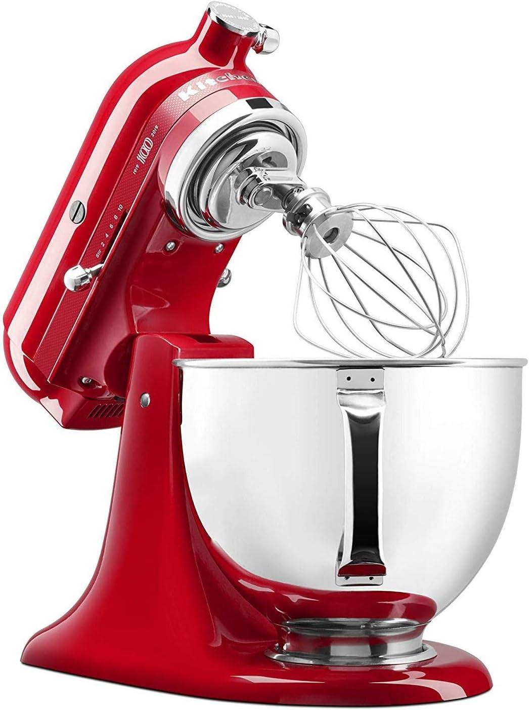 KitchenAid 5KSM180H - Robot de cocina (4,8 L, Rojo, palanca, 1,45 m, China, Acero inoxidable): Amazon.es: Hogar