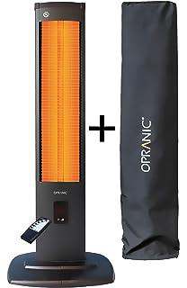 OPRANIC THOR Calefactor eléctrico de infrarrojos vertical con cubierta, 2000 vatios, Mando a distancia 5…