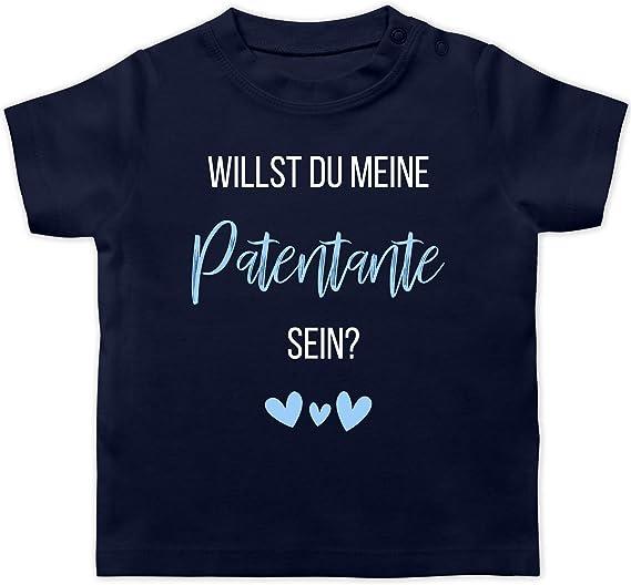 Shirtracer Baby T-Shirt Langarm Willst du Meine Patentante Sein? Herz Anl/ässe Baby