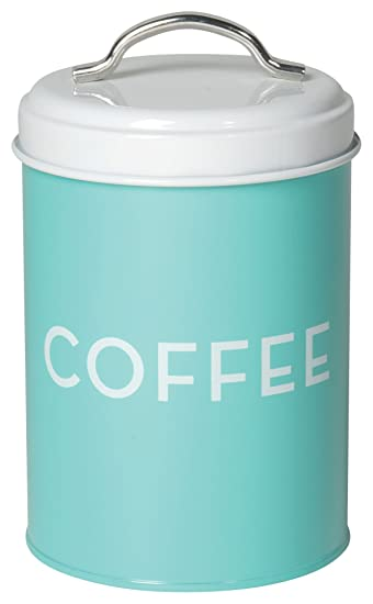 Amazon.com: Now Designs Coffee Tin, Turquoise: Turquoise Canisters ...