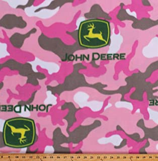 John Deere Pink Sunflower Sherpa Fleece Throw Blanket Key COMIN18JU073513