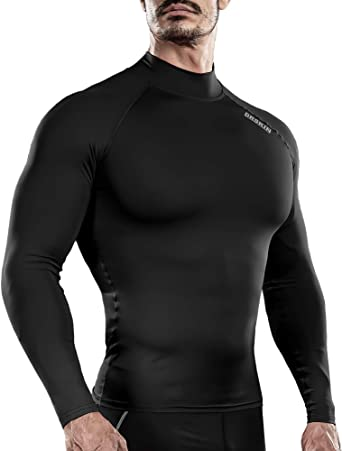 Men/'s Sports Shirts Compression Base Layers Gym Workout Long Sleeve T-Shirt