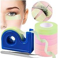 6 rollen wimper tape, Kalolary wimper tape voor wimperverlenging met tape dispenser cutter en pincet, stoffen wimper…
