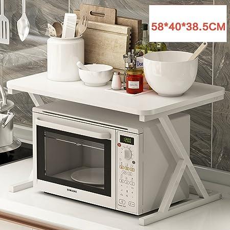 Kitchen Shelves-Feng SZQ Horno de microondas Rack Cocina de Madera ...