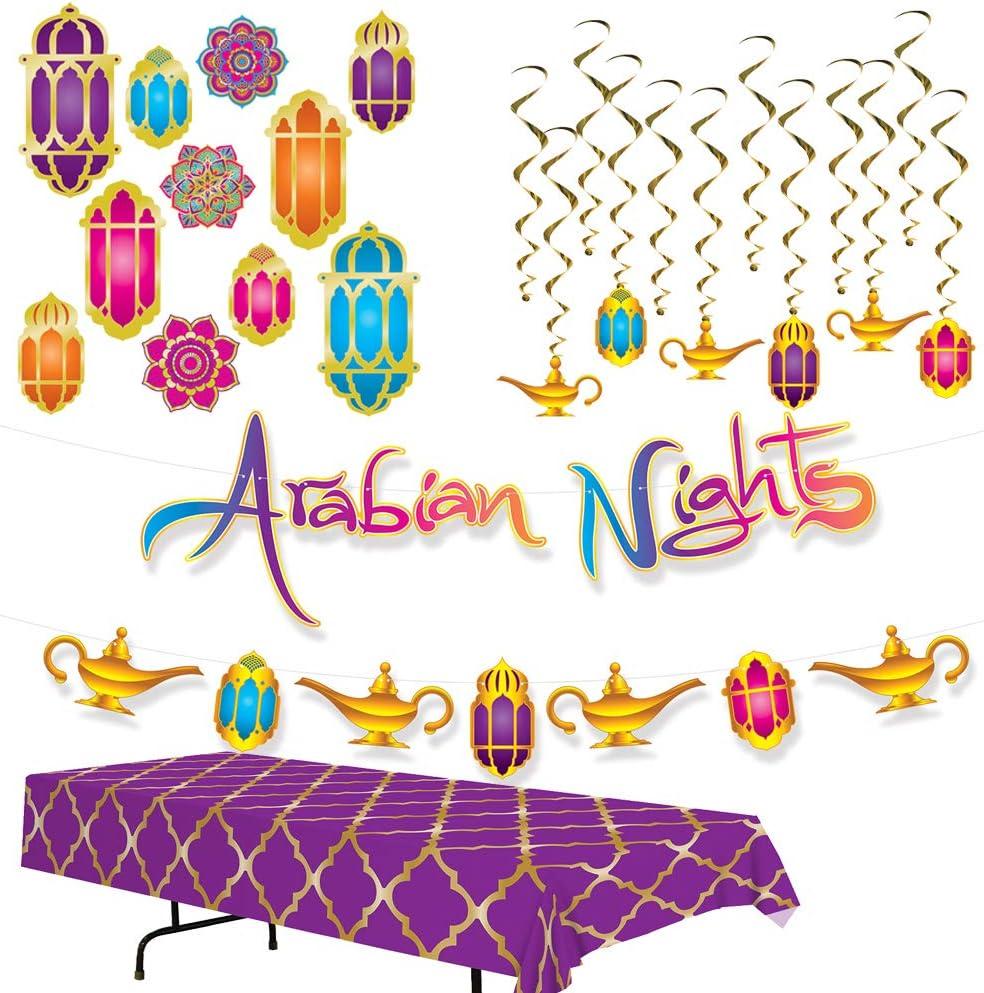 Kit de decoración de noche árabe inspirado en marroquíes, incluye ...