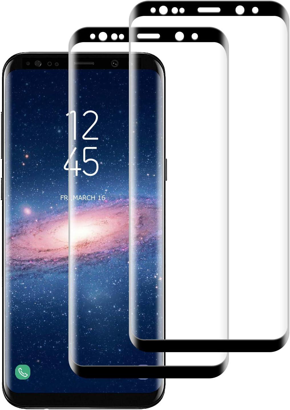 DASFOND Protector Pantalla de Samsung Galaxy S9 Plus Cristal Templado [Cobertura Completa, 9H Dureza, Alta Definicion, Alta sensibilidad, Protector de Pantalla para Samsung Galaxy S9 Plus, 2 Piezas