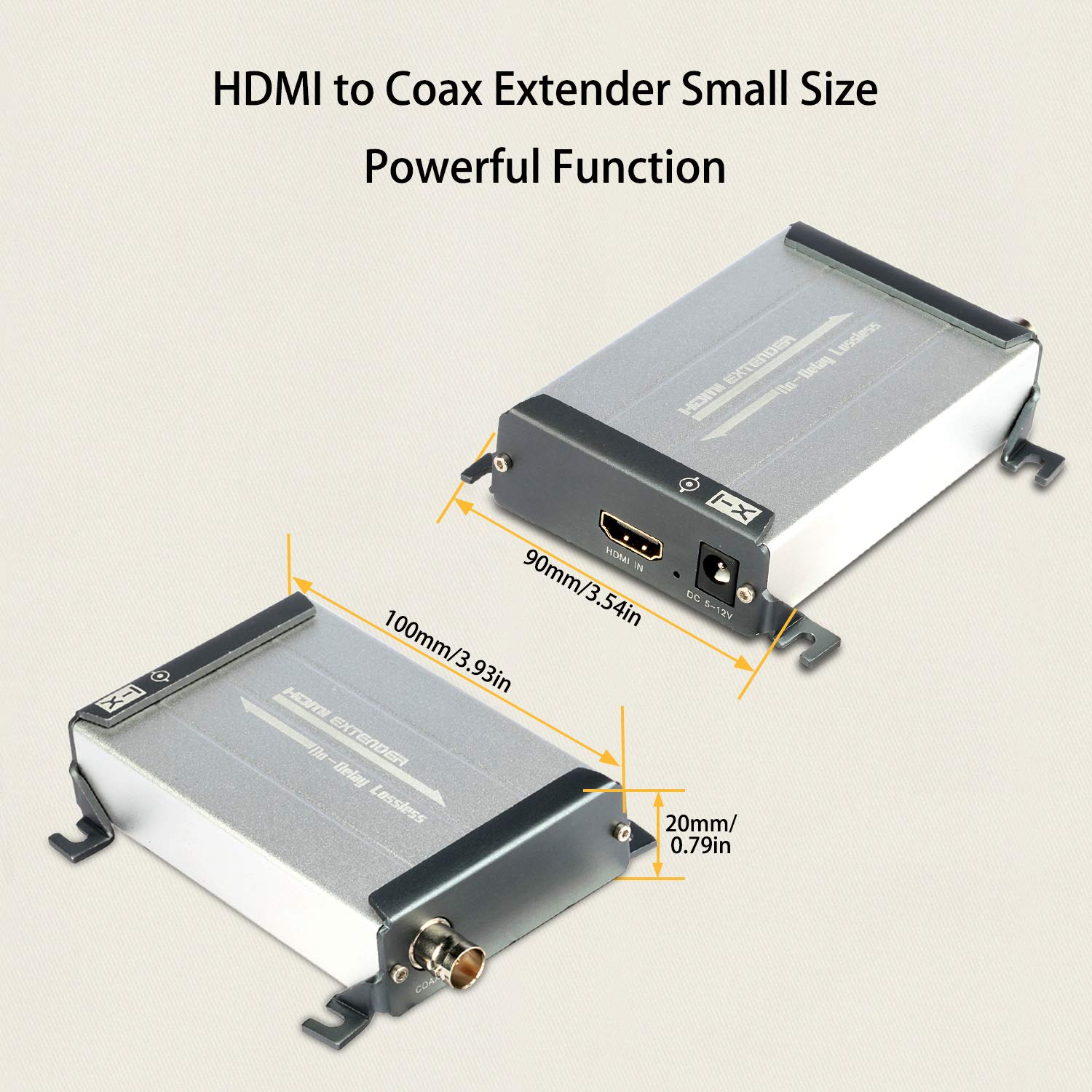 HDMI Over Coax Extender,Ansten HDMI Transmitter and Receiver Support 1080P Full HD HDMI Signal Lossless No Delay, 200m-300m/656FT-984FT HDMI Extender Via Coaxial Cable with BNC Port and F Connector by ANSTEN (Image #6)