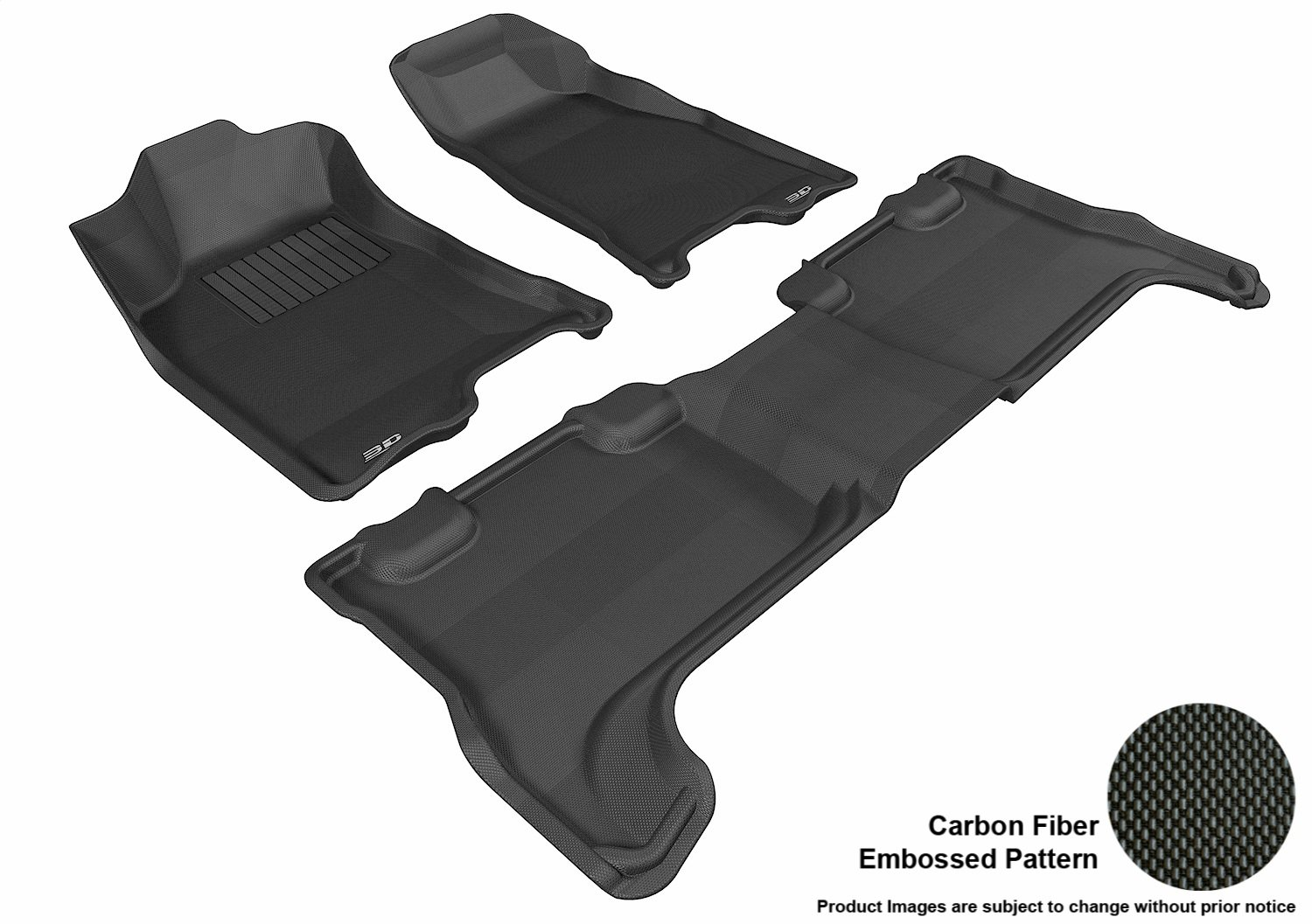 Tan Kagu Rubber 3D MAXpider Second Row Custom Fit All-Weather Floor Mat for Select Chevrolet Colorado Models