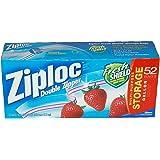 Ziploc Double Zipper Gallon Storage Bags - 104 Count