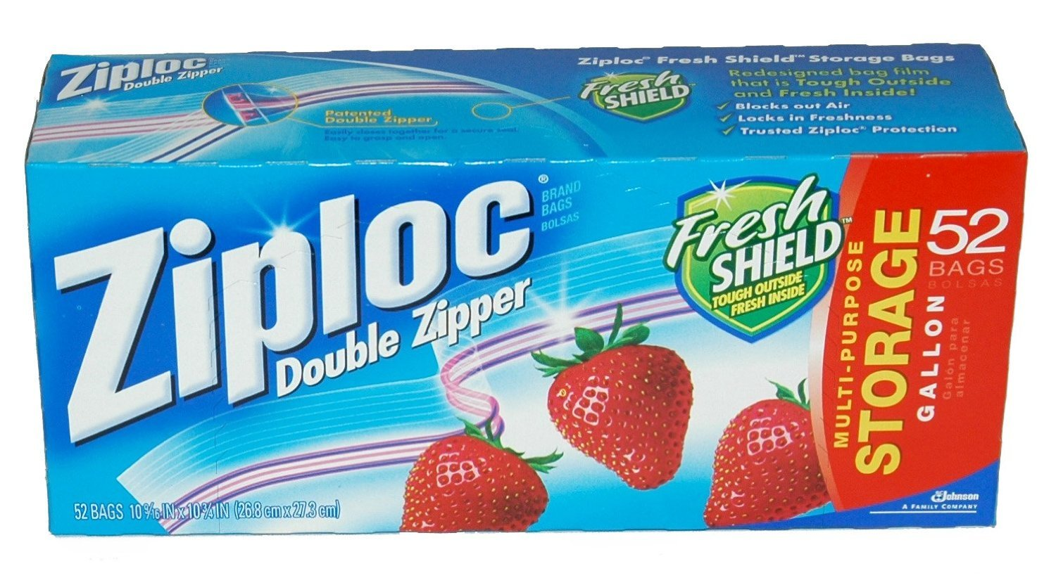 Ziploc Double Zipper Gallon Storage Bags - 104 Count