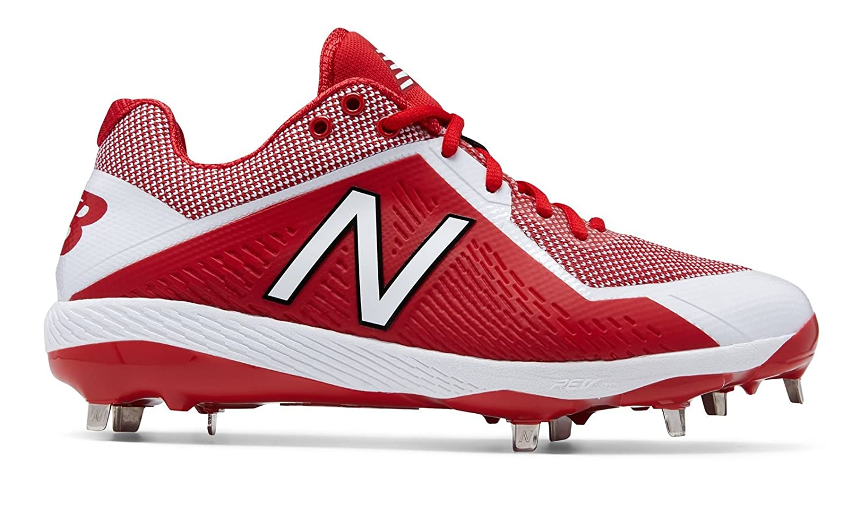 (ニューバランス) New Balance 靴シューズ メンズ野球 4040v4 Red with White レッド ホワイト US 7.5 (25.5cm) B073YMVMRJ